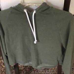 490cfdd9dfa Divided Tops | Hm Army Green Cropped Hoodie Sweatshirt M | Poshmark